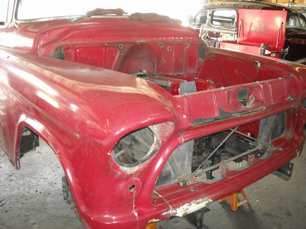 1955 Chevy Cameo C4 Corvette Chassis Build