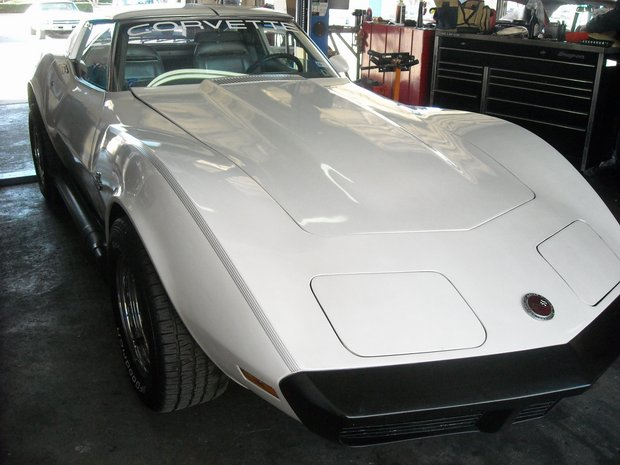 1974 Corvette Engine Compartment